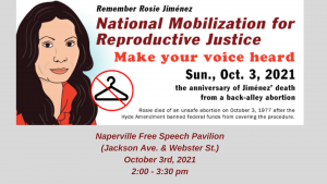 October 3rd Rally for Reproductive Justice in Naperville